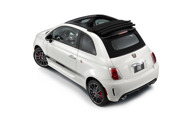 Abarth 595 C Cabrio 1.4 T-Jet 145PS 70th 2Dr Manual back view