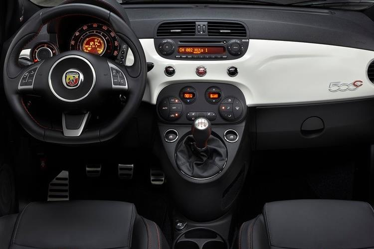Abarth 595 C Cabrio 1.4 T-Jet 145PS 70th 2Dr Manual inside view
